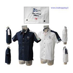 Camicia maniche corte sail Lega Navale Italiana