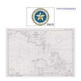Carta nautica didattica IIM Foglio 326/D INT 3350