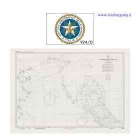 Carta nautica didattica IIM Foglio 924/D
