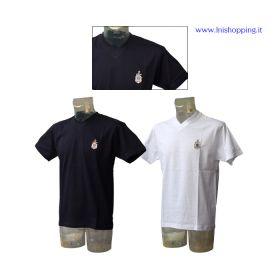 T-shirt collo a V mezza manica