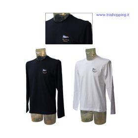 T-shirt girocollo a manica lunga