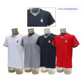T-Shirt uomo piquet collo a V Lega Navale Italiana